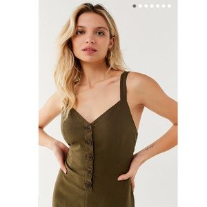 f9625646b878 Urban Outfitters Pants - UO Ashley Button-Down Tie-Back Jumpsuit